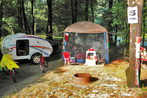 tent site with tab trailer