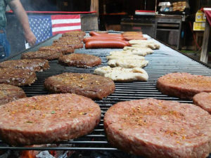 grilling burgers hot dogs and chicken