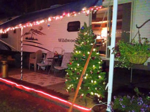 trailer decorated for christmas in july