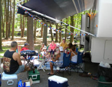 camping family at circle cg farm campground