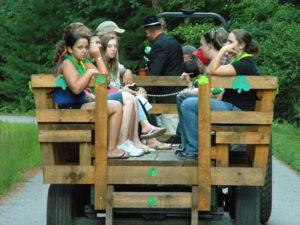 wagon rides at circle cg farm campground