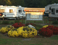 beautiful landscaping at circle cg farm campground in bellingham ma