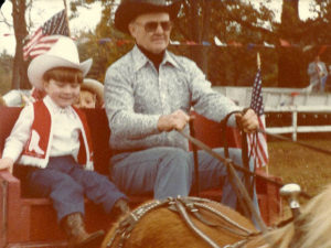 old photo of wagon ride