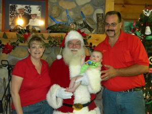 family camping with santa