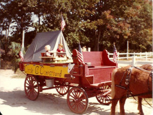 old photo of circle cg farm campground wagon
